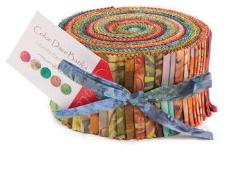 "Color Daze Batiks - 2.5"" Strips - Jelly Roll (precut fabric)"
