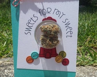 Sweets - Love/Romance Cannabis Greeting Card