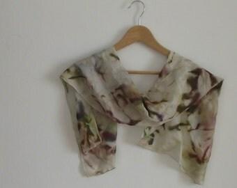 Vintage Handmade Silk Scarf