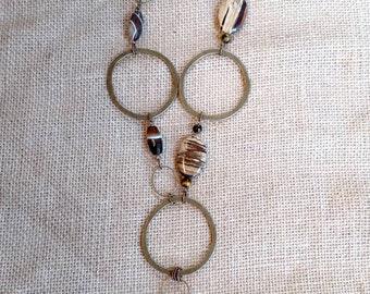 Brass statement necklace