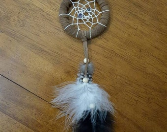 Hematite and Amethyst Dreamcatcher