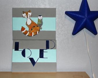 Cute Woodland Nursery Canvas Set