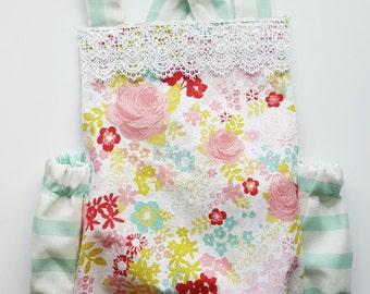 Mint Floral Halter Romper