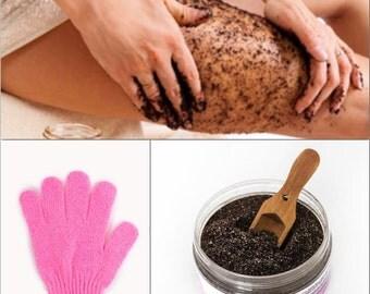 NATURAL Skin Firming Seaweed Scrub for Cellulite Reduction + Skin Toning