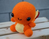Charmander, Crochet Charmander Pokemon, Pokemon Charmander, Crochet Pokemon, Handmade, Present, Gift MADE TO ORDER with Free Shipping