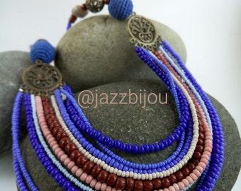 necklace and earrings set - RHAPSODY IN BLUE