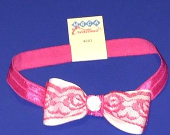 Pink Bow Headband #202