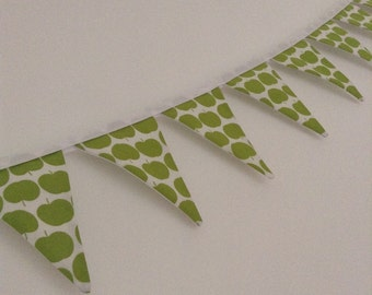 Green apple cotton bunting!