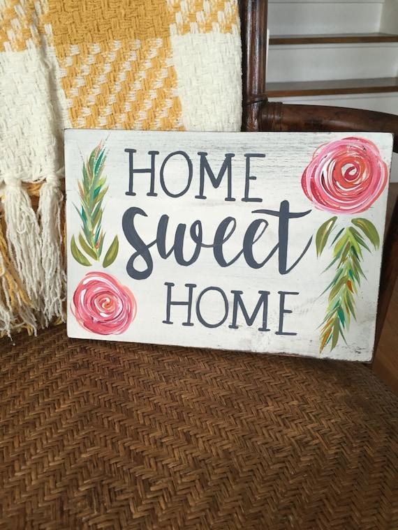 home sweet home sign housewarming gift front door decor. Black Bedroom Furniture Sets. Home Design Ideas