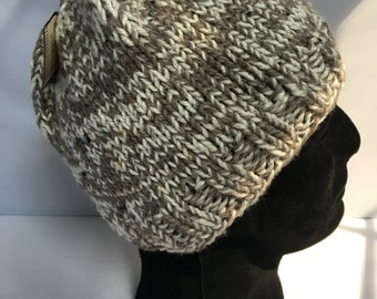 Cream, Gray and Brown Best Seller Beanie
