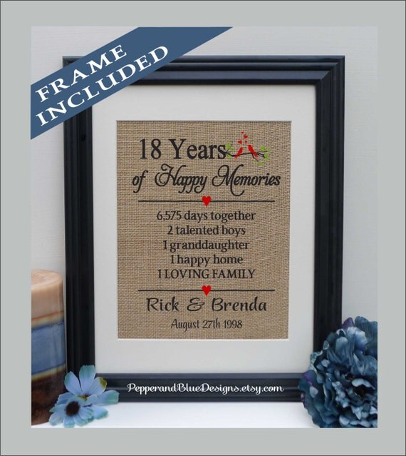6th Wedding Anniversary Gift Ideas For Husband: 18th Wedding Anniversary Gifts 18 Years Married 18 Years