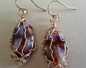 Crazy is the word Gemstone Dangle Earrings, 14K gold filled