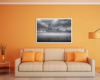Cincinnati Skyline, Cincinnati Print, Landscape Photography, Wall Art, Printable Art, HDR Photography, Wall Decor