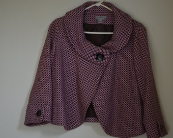 Jacket (jacket) short kind tweed pink/black/beige