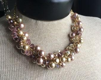 Mauve Beaded Necklace