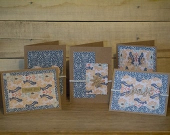 Rustic Blue Greeting Cards