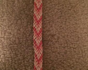 Pink chevron bracelet