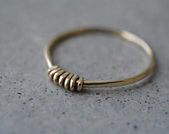 14k gold delicate thin handmade ring, 14k gold stackable ring,14k gold thin band,delicate gold ring