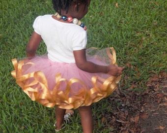 Pink and Gold tutu - Pink and gold first birthday outfit - Pink and gold  1st birthday tutu - baby tutu - tutu skirt