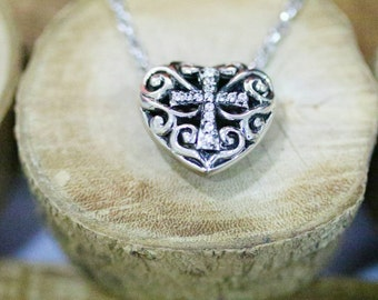 Heart of Cross Necklace