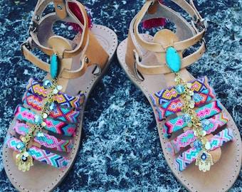 Gladiator Sandals, Handmade Sandals, Greek Leather Sandals, Strappy Sandals