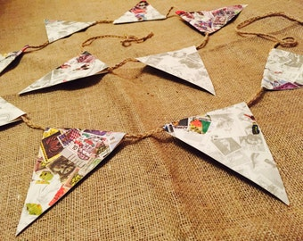 Handmade stamp bunting
