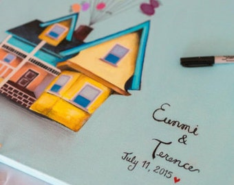 UP/ Custom house guestbook painting