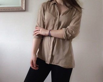 Gold satin blouse
