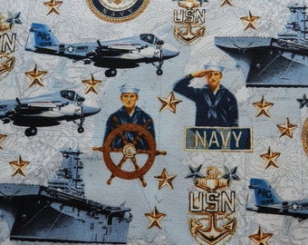Patriots Navy fabric by Robert Kaufman fat quarter