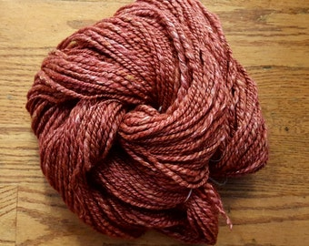 Handspun Yarn/2-ply Worsted-Aran Weight/178 Yards/7-8 wpi/Merino Wool