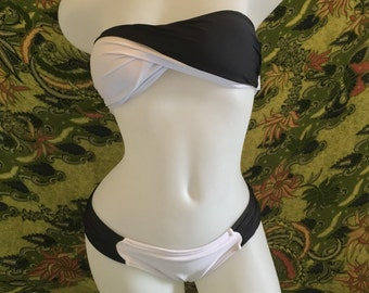 Black and white bikini
