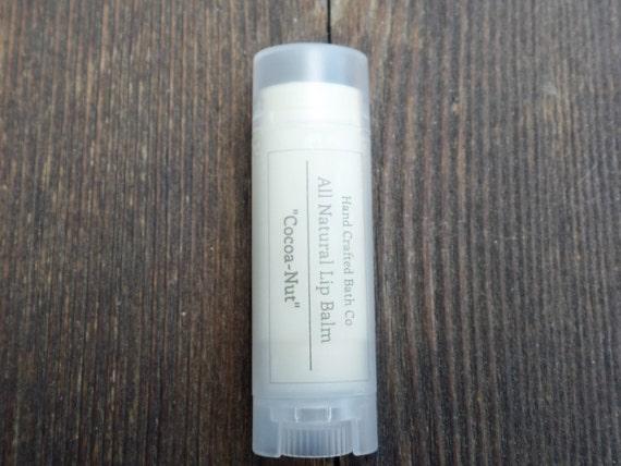 Organic Lip Balm: All Natural Cocoa and Coconut scented
