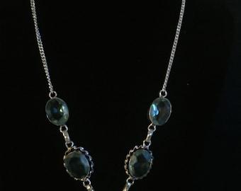 Blue Topaz Sterling Necklace
