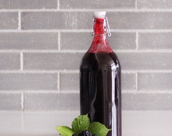Organic Blackberry Syrup 34 oz. (1 l), Homemade
