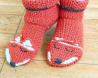 Fox Socks, Fox House Slippers, Fox Slippers, Fox House Shoes, Fox Shoes