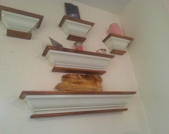 floating crown moulding shelves