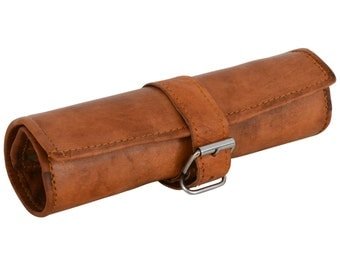 Gusti leather 'Robbie' Leather Pencil Pen case