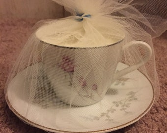 Lavender scented Soy teacup candle