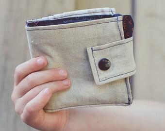 Natural Linen Wallet