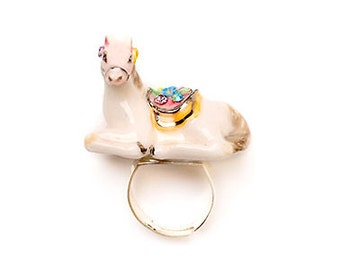 Porcelain Horse Ring
