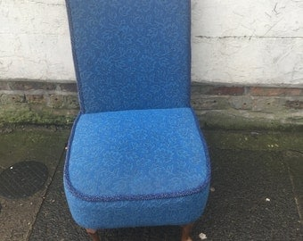 Blue Chair with Queen Anne Style Legs