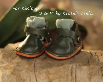 Mary Jane shoes for Kikipop Color Deep green
