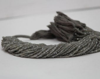 Gray Moonstone Faceted Beads