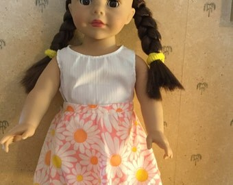 Bubble Skirt and tank top for American Girl Dolls