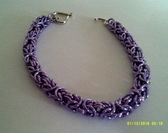lilac byzantine weave bracelet