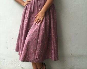 Skirt vintage floral 40 EN 8 UK