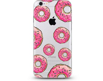 Pink Donuts - iphone 7 case, clear iphone 7 case, clear iphone 7 case ,slim iphone 7 cases, Hard Iphone 7 case
