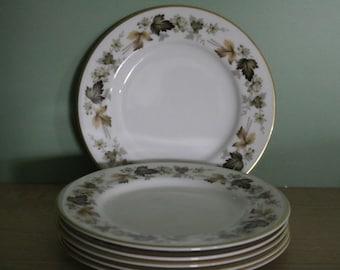 SALE  Six Royal Doulton Larchmont Plates 1930s