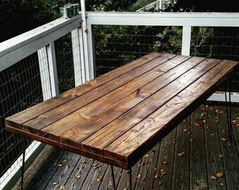 Rustic barnyard dining table