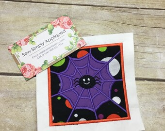 Halloween Applique Design, Spider Web Applique Design, Applique Embroidery Design